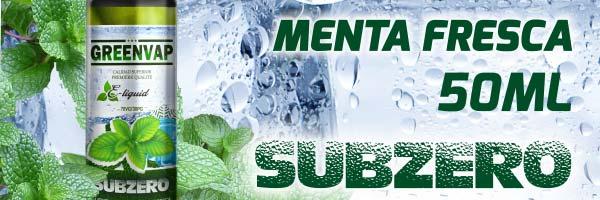 120ml e-liquid Menta fresca subzero